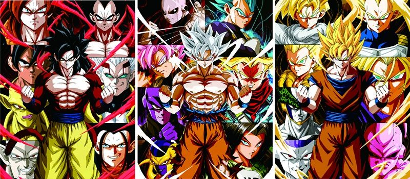 Anime Dragon Ball 3D Posters Custom Lenticular Prining